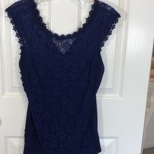Express Royal Blue Lace Top Shirt in size Medium